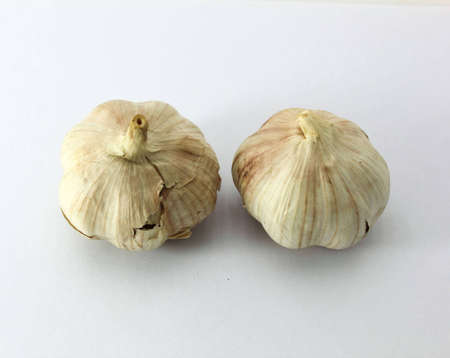 garlic on white background Stock Photo - 14290322