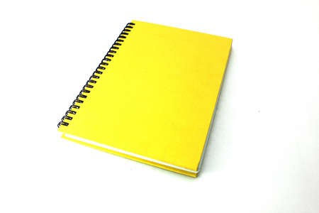 Yellow book  on white background