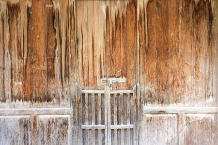 Wooden door of old barn Stock Photo