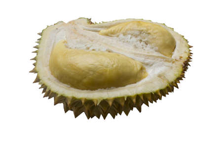 Durian on a white background
