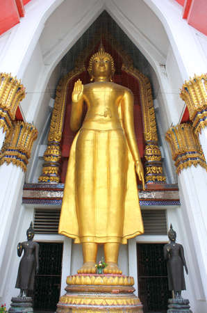 Buddha statue in the church at   wat hammamongkol Bangkok, Thailand  Stock Photo - 14975225