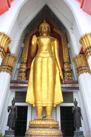 Buddha statue in the church at   wat hammamongkol Bangkok, Thailand Stock Photo - 14975225