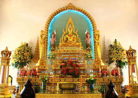 Buddha in church at Wat watphrasri, Bangkok, Thailand  Stock Photo - 14963372