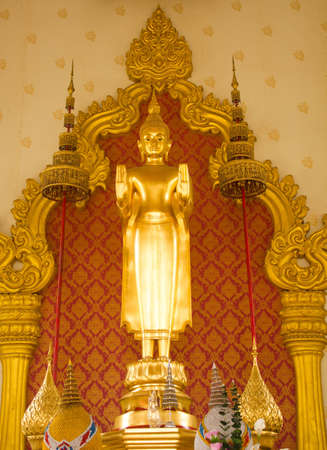 Buddha statue in the church at   yannawa Bangkok, Thailand