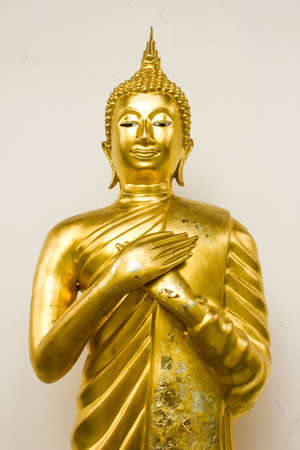 Buddha statue in the church at wat hualampong, Bangkok, Thailand  Stock Photo - 14975227