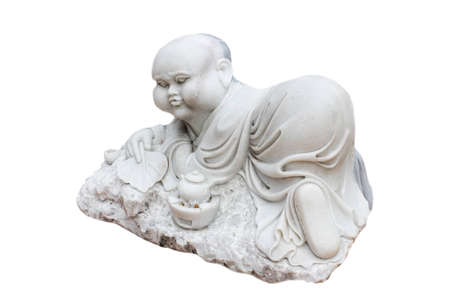 novice  of statues on a white background Stock Photo - 14975192