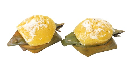 Isolated Thai dessert made by fruit of toddy palm Isolated Thai dessert made by fruit of toddy palm