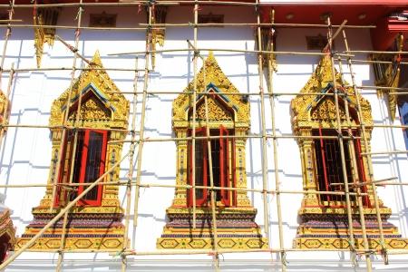 repair in thai temple photo