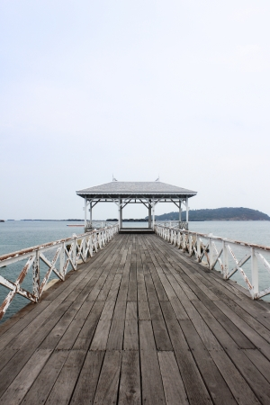 Wood waterfront pavilion gulf of Thailand photo