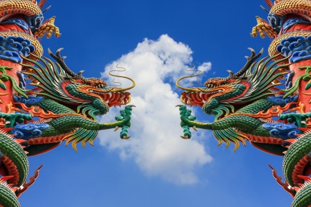 Dragon  statue on a sky background  Stock Photo