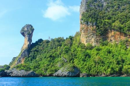 Chicken island located at Krabi, Thailand