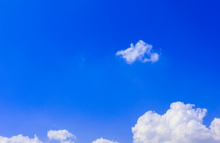 White clouds in a blue sky  Stock Photo