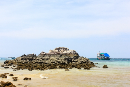 hill into the sea water at coral island or Koh Larn ,Pattaya Thailand