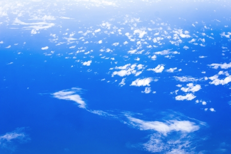 Cloud on the blue sky texture background