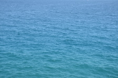 Blue Tones Water Waves Surface as Background Stock Photo