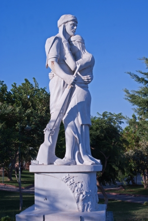 Statue of the Turkish soldier and his wife photo