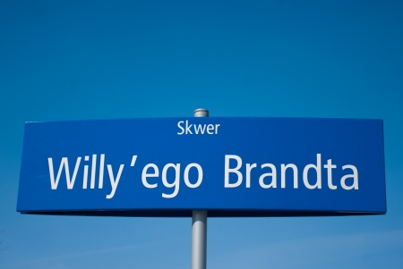 willy: Willy Brandt Square - Street sign