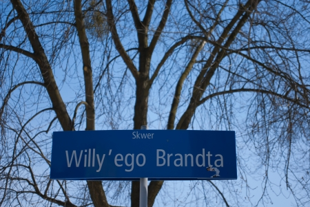 brandt: Willy Brandt Square - Street sign