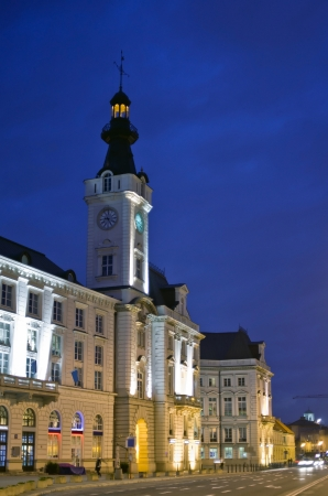 Warsaw by night - Old Town Hall photo