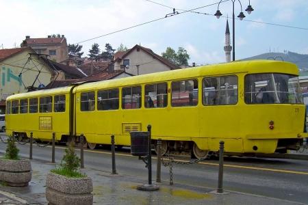 sarajevo: Sarajevo - Old orange tram
