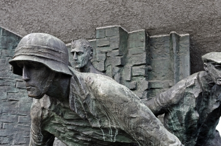 rising dead: Fragment of the Warsaw Uprising Monument