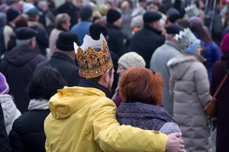 Wloclawek, Poland - January 6, 2014  Three Wise Men parade