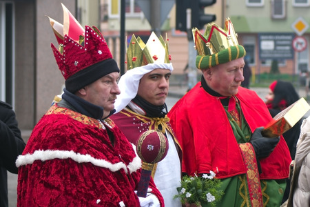 balthazar: Wloclawek, Poland - January 6, 2014  Three Wise Men parade Editorial
