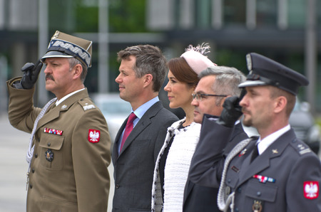 prince of denmark: Prince Frederik and Princess Mary on state visit to Poland