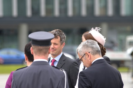 prince of denmark: Prince Frederik of Denmark on state visit to Poland Editorial