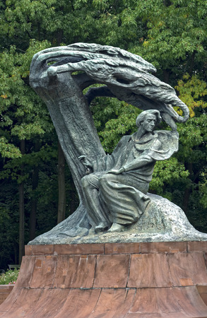 Poland, Warsaw - monument to Frederic Chopin, the most famous Polish composer and pianist.