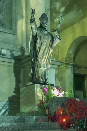 Poland, Warsaw - monument to Pope John Paul II