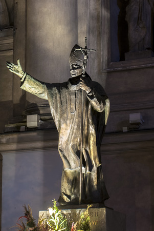 pope: Poland, Warsaw - monument to Pope John Paul II
