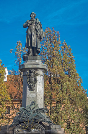 mickiewicz: Poland, Warsaw - monument to Adam Mickiewicz, the greatest Polish poet of all time.