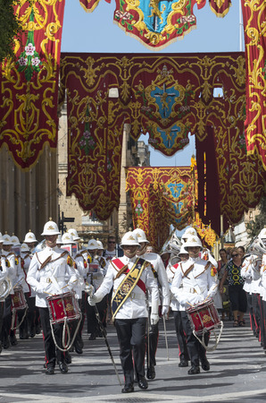 Armed Forces of Malta - Military Band during changing of the palace guard ceremony.