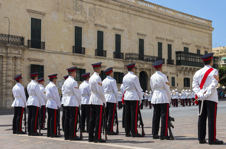 Armed Forces of Malta - Ceremony in front of the Grand Masters Palace Editorial