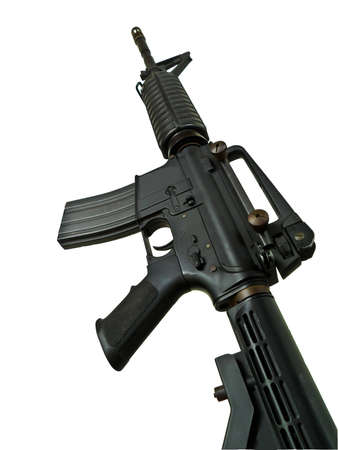 old rifle: M4A1 bb gun Stock Photo