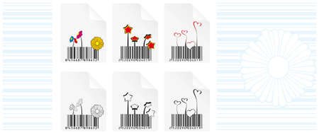 Barcode design elements  Barcode design elements. Code remains functional Vector
