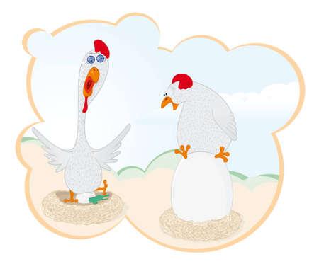 unexpectedness: � Sorpresa! En una adici�n de patio de aves de corral.  Dos aves eclosionan los huevos.