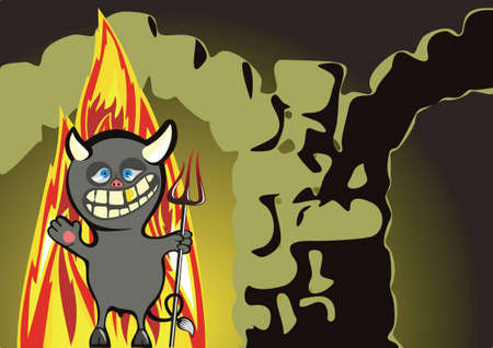 infernal: devil on an input in a hell meets newcomers.