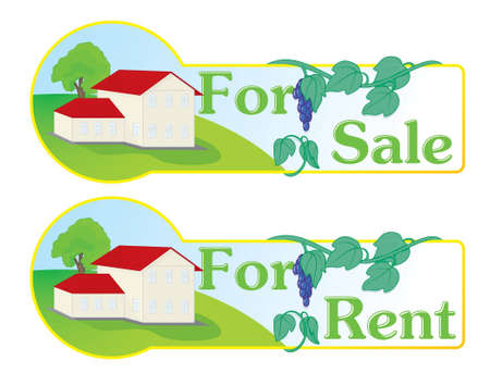 for rental: mark for naming the estate, sale and rental houses.