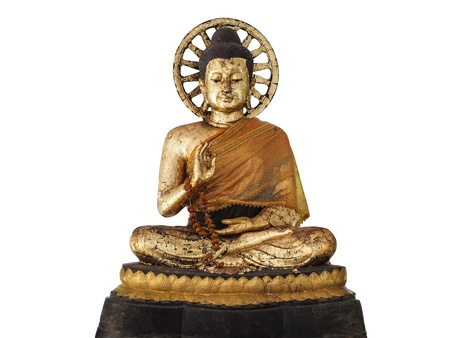 image of buddha with Gold leaf photo