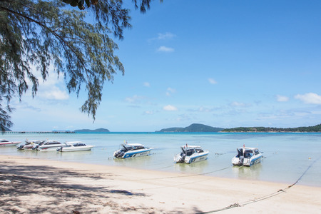 speed boat: Speed boat near the beach