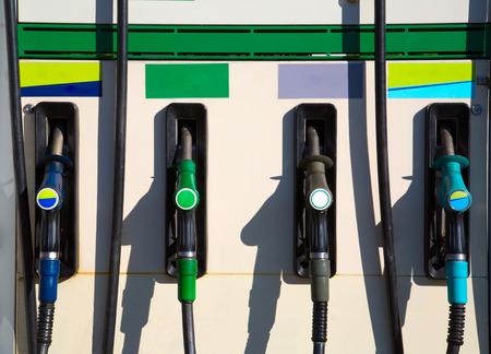 fillup: Gas nozzles Stock Photo