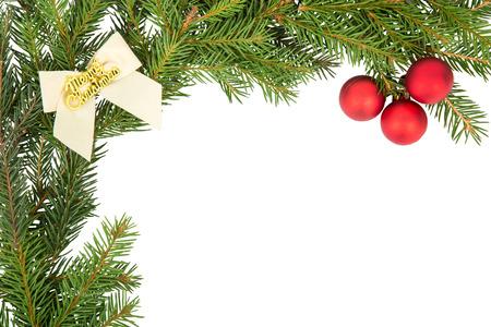 mo�o blanco: Marco de la Navidad con el arco blanco y la bola roja