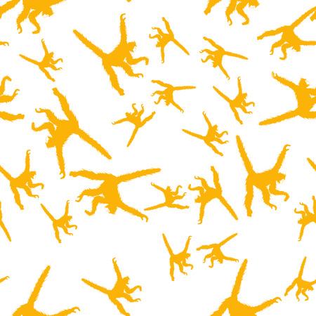 Seamless pattern background with monkeys. Symbol of 2016 year. Illustration Banco de Imagens
