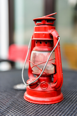 Red oil lamp