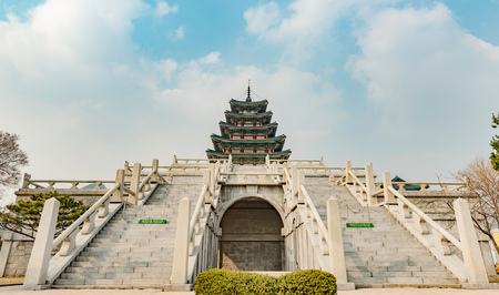 Gyeongbokgung palace, famous destination ancient traditional korean style palace