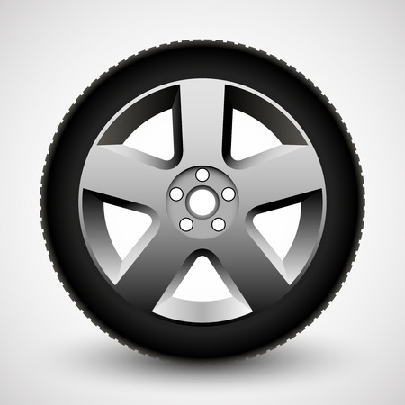 Car wheel illustration