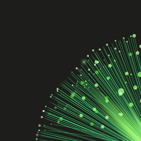 light green: Abstract optic fiber background, vector illustration Illustration