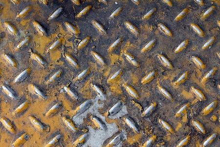 galvanize: dirty metal wall Stock Photo